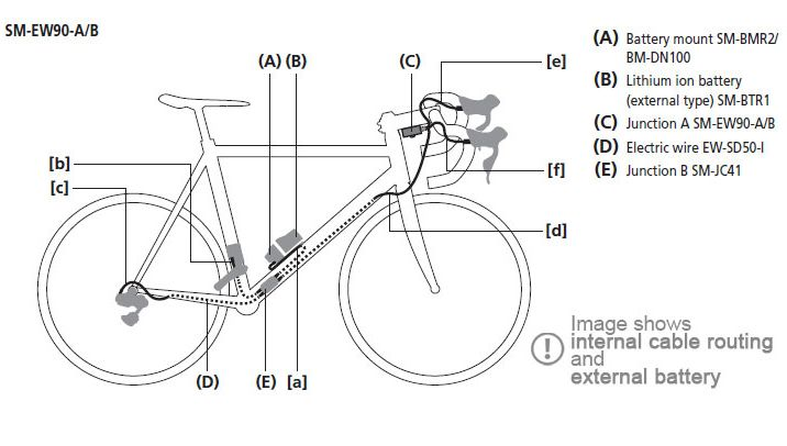 Shimano Di Wiring Diagram on shimano bike diagram, shimano electronic shifting diagram, fulcrum diagram, shimano cranksets diagram, bb30 diagram, shimano ultegra diagram, shimano disc brakes diagram, bottom bracket diagram,