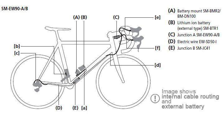 shimano dura ace di2 r9150 groupset tt triathlon external battery Shimano Di2 Internal Wiring Diagram at Tri Bike Di2 Wiring Diagram