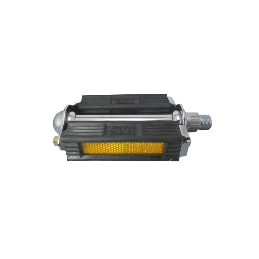 MKS Pedale 3000 S Blockpedal 10cm breit OHNE Reflektoren silber schwarz