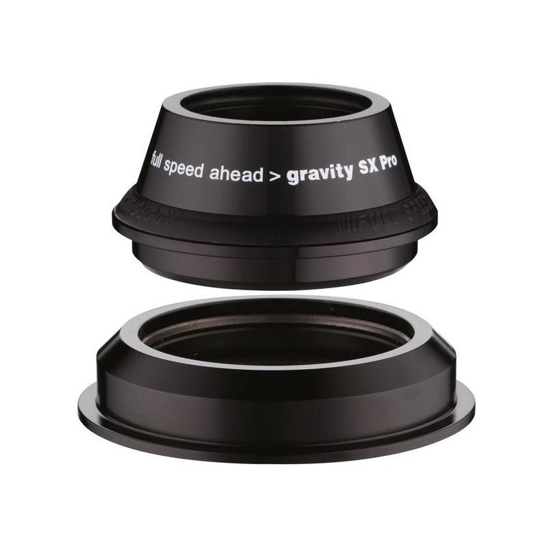 "FSA HEADSET Gravity SX Pro Black 1 1//8/"" to 1 1//2/"" Tapered Semi Integrated"