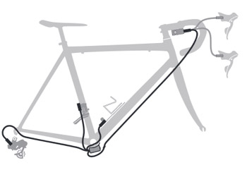 6ca89f49879 Shimano Ultegra Di2 6870 groupset 11s TT external cable routing 2014