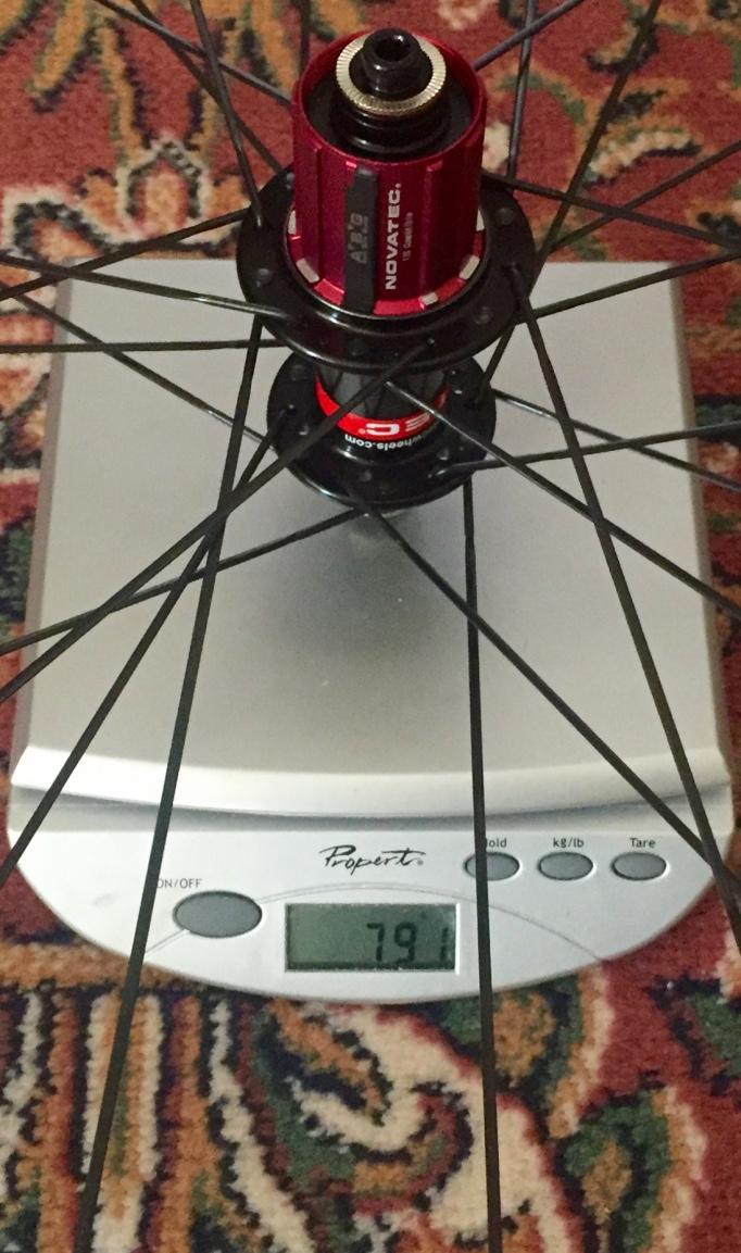 Rear wheel weight