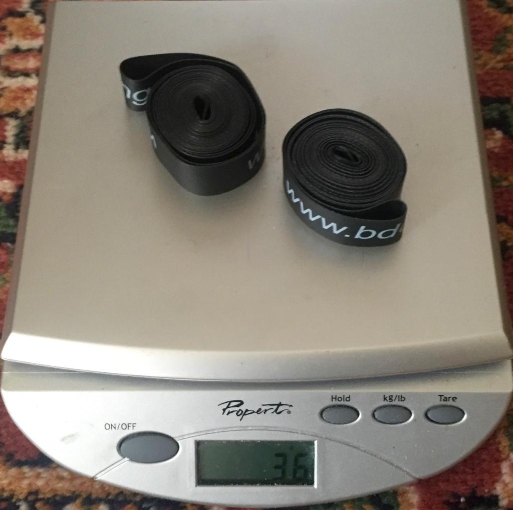 Rim strip weight
