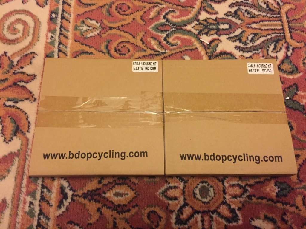 The BDOP Elite cable kit arrived in a no fuss cardboard box.